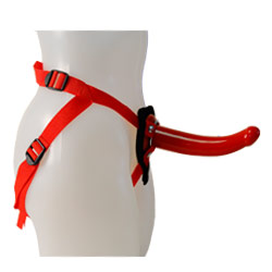 Sophias Red Rider Strap On Dildo