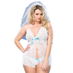 Leg Avenue Mesh Babydoll And G-String UK 16 to 18
