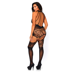 Leg Avenue Seamless Opaque Bodystocking UK 18 to 22